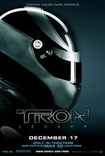 Tron Legacy movie poster print  : 11 x 17 inches - Black Helmet