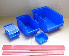 NEU Stapelboxen  Lagerboxen  Sichtlagerboxen Wandschienen  versch. Größen  PP