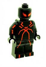 Custom Designed Minifigure Spiderman Stealth Red Superhero Printed On LEGO Parts