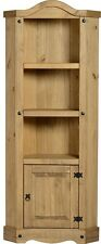 CORONA MEXICAN STYLE WAXED DISTRESSED ANTIQUE PINE CORNER UNIT WITH SHELVES