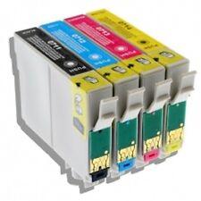 Cartouches équivalent EPSON T0715 compatible  « Guépard et Singe » pack 4