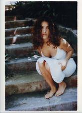Salma Hayek Gorgeous Barefoot Busty Exotic Glamour 9x11 Original Stamped Photo