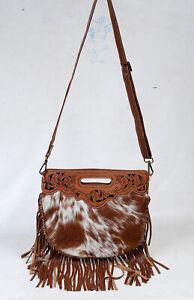 100% Cowhide leather bag with fringes, over the shoulder bag for women SA-7281