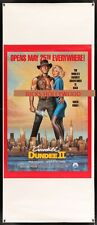 Original Advance CROCODILE DUNDEE II Half Subway Poster PRINTER'S TEST PROOF