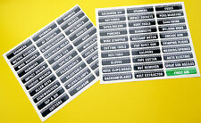 TOOLBOX TOOL CHEST Drawer LABEL stickers decals Identify workshop tools 2 SHEETS