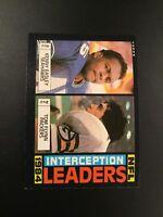1985 Topps # 196 NFL Interception Leaders KENNY EASLEY / TOM FLYNN Packers