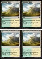 4x BLOSSOMING SANDS Fate Reforged MTG Land Com