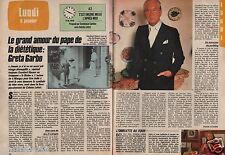 Coupure de presse Clipping 1986 Gaylord Hauser pape de la diététique (2 pages)