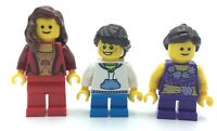 LEGO LOT OF 3 NEW GIRL MINIFIGURES FEMALE MOM & KIDS PEOPLE FIGURES
