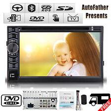 "Double 2Din 6.2"" Stereo Car DVD Player Bluetooth Radio iPod SD/USB TV No Gps"