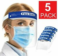 5x Safety Full Face Shield Reusable FaceShield Clear Washable Face Anti-Splash