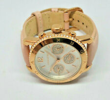 Ladies Coach Rose Gold Plated Multi Dial Diamante Watch Pink Strap