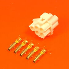 Genuine Lucas Rists 5 Way White 3mm Socket Moulding Wiring Connector Kit