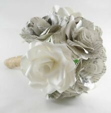 Paper Flower Rose Bridal Bouquet - Wedding Flowers, Forever Flowers