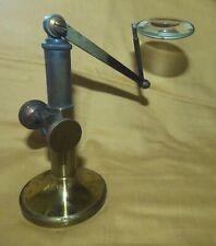 loupe ancienne  à crémaillére instrument scientifique ancien