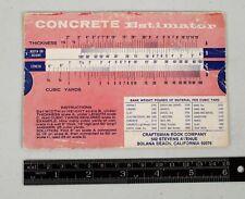 1968 Concrete Estimator Lumber Calculator Paint Coverage Chart Handy Tool