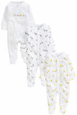ВNWT NEXT Baby Playsuits Outfit • Noah's Ark Sleeps 3pk  • 100% Cotton • 0-3 Mon