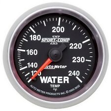 """AutoMeter 3632 Sport-Comp II Mechanical Water Temp. 120-240 Deg. Gauge 2-1/16"""""""