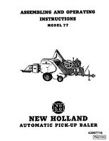 New Holland 77 Baler Operators Manual