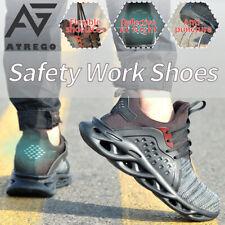 Atrego Masculino Segurança Biqueira De Aço botas de trabalho Cap Sports Malha Caminhada Sapatos Tênis