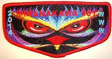 MIKANAKAWA OA LODGE 101 OKICIYAPI 56 CIRCLE TEN TX PATCH OWL 2014 ELANGOMAT FLAP