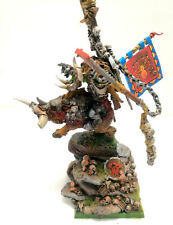 """WARHAMMER AGE OF SIGMAR ORCS AND GOBLINS """"GORBAD IRONCLAW"""" RESIN OOP PRO PAINTED"""