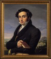 "Old Master Art Portrait of Italian Man Gentleman Oil Painting Unframed 24""x30"