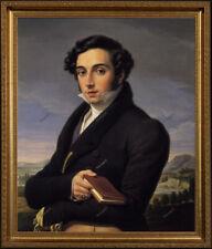 "Old Master Art Antique Man Portrait Italian Gentleman Oil Painting Unframed 24"""