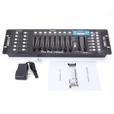 New 192CH DMX512 Stage Light Controller Laser DJ Disco Lighting Console Black