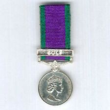 Miniature General Service Medal with Gulf clasp