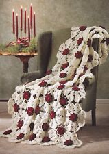 Crochet Pattern ~ Snowflake Rose Afghan ~ Instructions