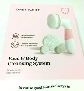 Vanity Planet Face & Body Cleaning System 4 Customizable Brush Heads New 21HB029