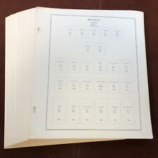 US REVENUE Part 1 SCOTT NATIONAL / SPECIALTY Stamp Album Pages, Complete USA