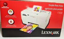 """Lexmark P350 Portable 4"""" x 6"""" Color Photo Printer - New In Original Box"""