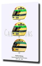 "AYRTON SENNA CANVAS ART PRINT POSTER PHOTO  30""x20""  F1 WORLD CHAMPION FORMULA 1"