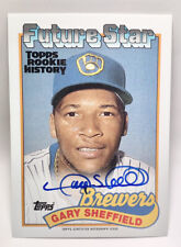 2018 Topps Archives Gary Sheffield on card Auto /150