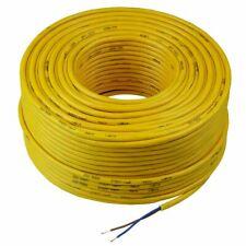 100m Orange 0.75mm² 3182Y 2 Core Flexible Round Cable Wire