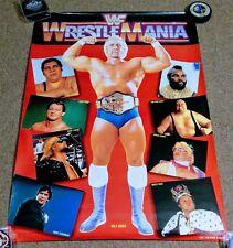 Wrestlemania Japanese Wrestling Poster Hulk Hogan WWE WWF Rare