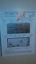 Kenwood km-595 795 service manual original repair book stereoav receiver tuner
