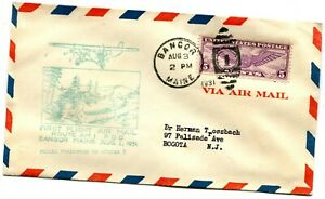 Colonial Air Transport First Flight Bangor Maine - Boston Massachusetts - 1931