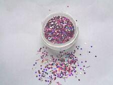 3g POT  NSI ACRYLIC   PR-MIXED GLITTER   GLITZ - 1 -  nail art mix