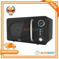 Akai Pull Handle Retro Digital Microwave, 5 Power Levels, 700W 20L Black A24006