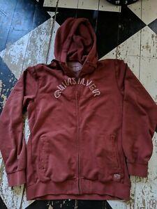 Quiksilver Vintage Men's Oversized Hoodie /Sweatshirt Red Rust Colour XXL