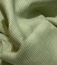 100% Flax  Linen Fabric Yarn Dyed  2mm Small Gingham Check,Brown and Light Green
