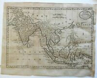 Southeast Asia Mughal Empire Siam Thailand Java Sumatra 1800 Low map