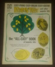 Lemon Tree and Other Popular Hits Easy Piano Organ Guitar song music book 1965