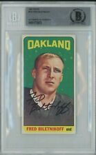 1965 Topps Signed Autographed FRED BILETNIKOFF RC #133 Beckett Authentic EX-NM!