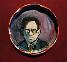 ROBERT AICKMAN, Jam Jar Lid Portrait, Literary, Outsider Folk Art by PETER ORR