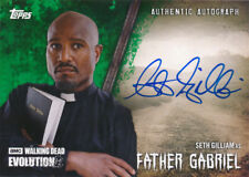 Topps Walking Dead Evolution Autograph A-SGI Father Gabriel 17/25 Green