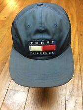 vintage Tommy Hilfiger Nylon Baseball Cap Hat Clip Back 90s Big Flag S/m